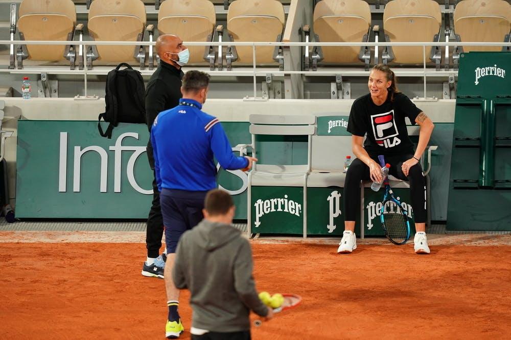Karolina Pliskova, Roland Garros 2020, entraînement