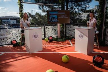 Gigi Salmon and Daniela Hantuchova hosting the Live at Roland-Garros 2021 show