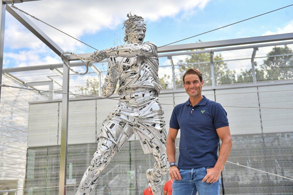 Statue Rafael Nadal / Roland-Garros