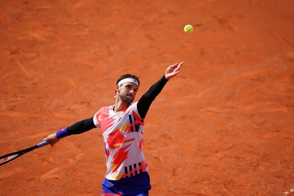 Grigor Dimitrov, Roland Garros 2020, second round