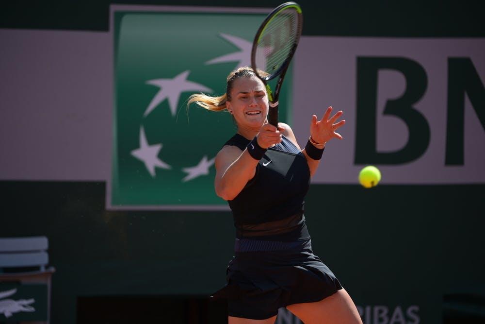 Aryna Sabalenka, Roland-Garros 2021 first round