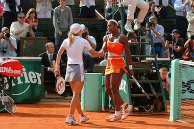 Justine Henin against Serena Williams at Roland-Garros 2003