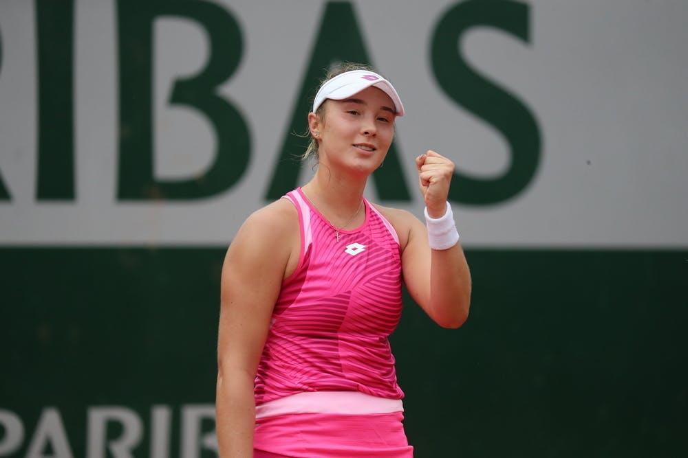 Alina Charaeva, Roland Garros 2020, girls' singles, second round