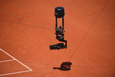 Spider cam during Roland-Garros 2019
