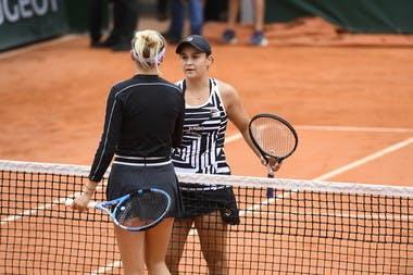 Ashleigh Barty and Amanda Anisimova