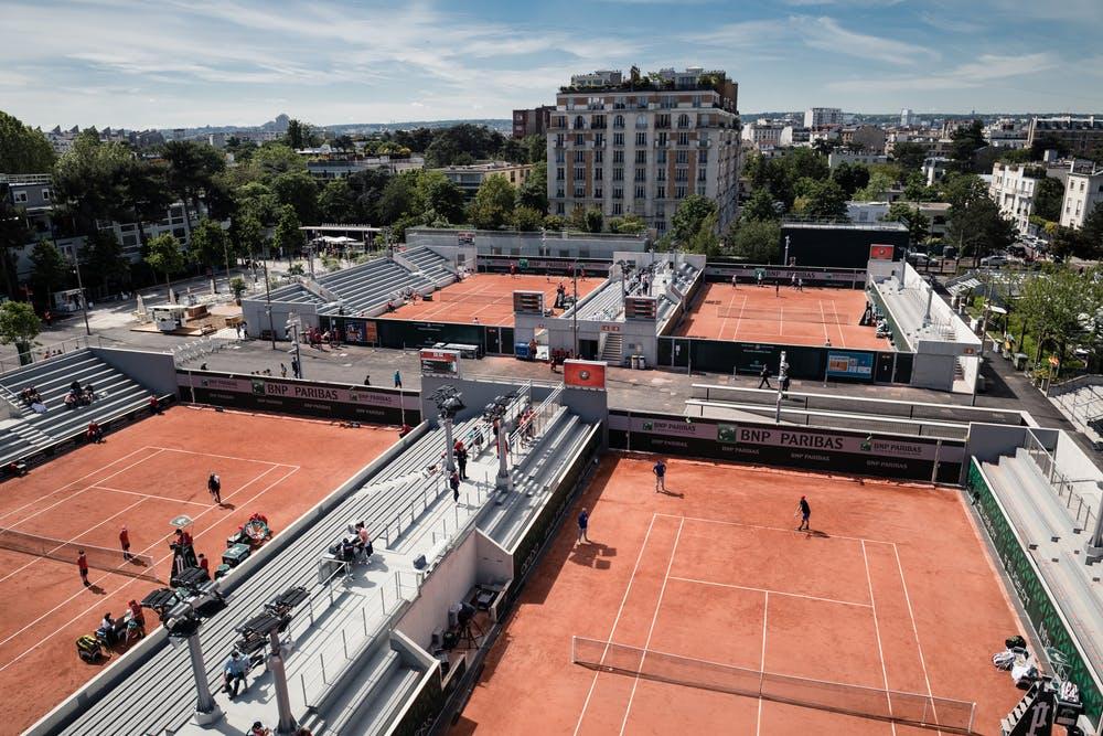 Courts 6, 7, 8 et 9 à Roland-Garros