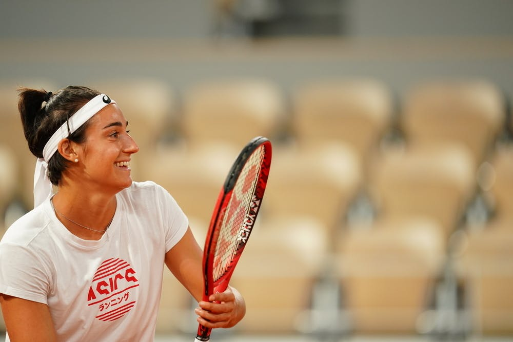 Caroline Garcia, Roland-Garros 2020, entraînement, jeudi 24 septembre