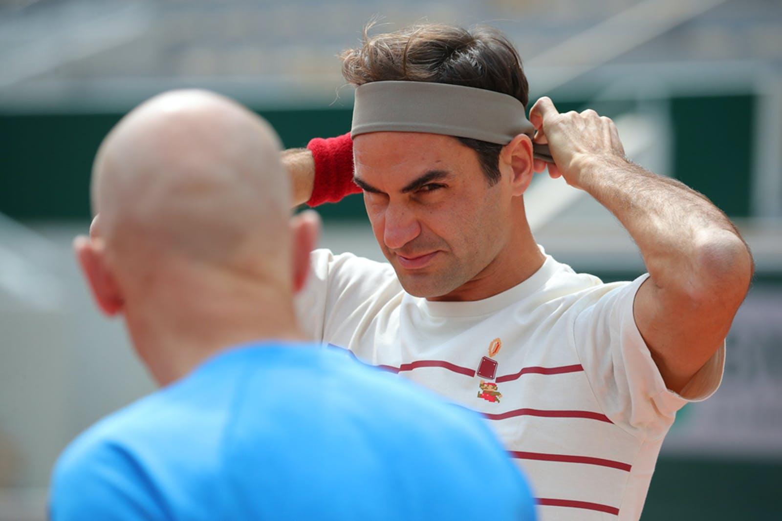 Roger Federer - Roland-Garros 2019 - practice