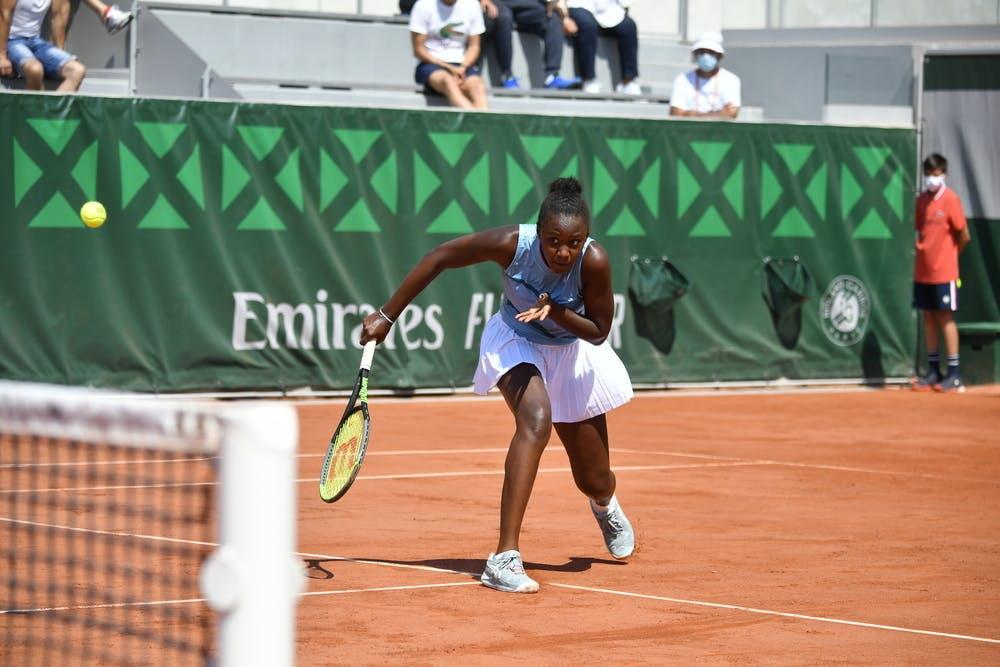 Maelie Monfils, Roland-Garros 2021, juniors, 1st round