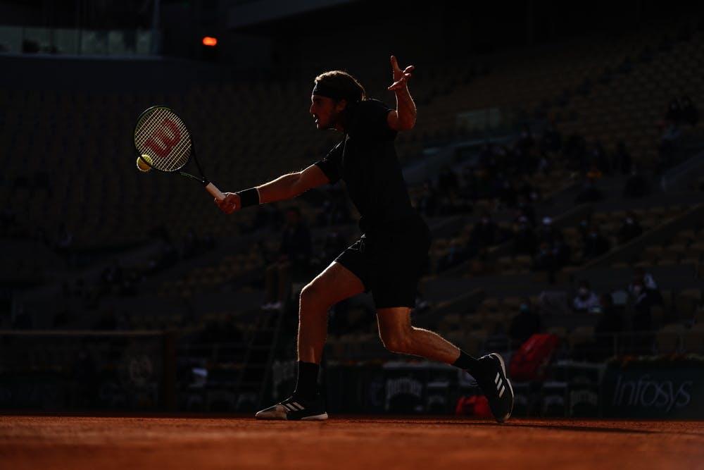Stefanos Tsitsipas, Roland-Garros 2020, quarts de finale
