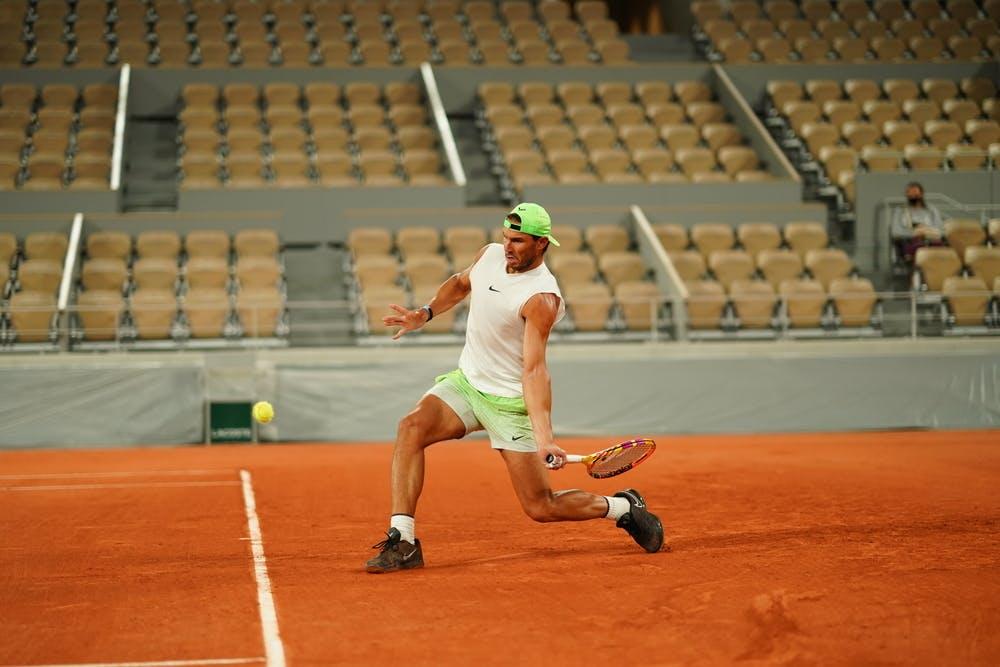 Rafael Nadal, Roland-Garros 2020, entraînement