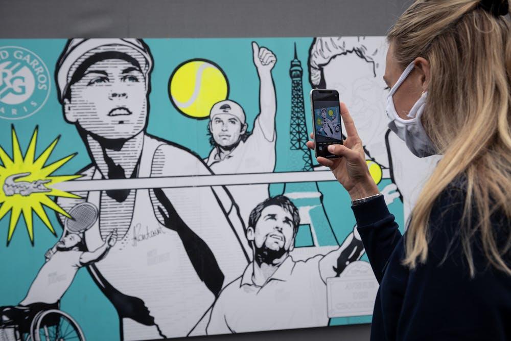 Art Live Crocodile, Fresque, Roland-Garros, Anett Kontaveit