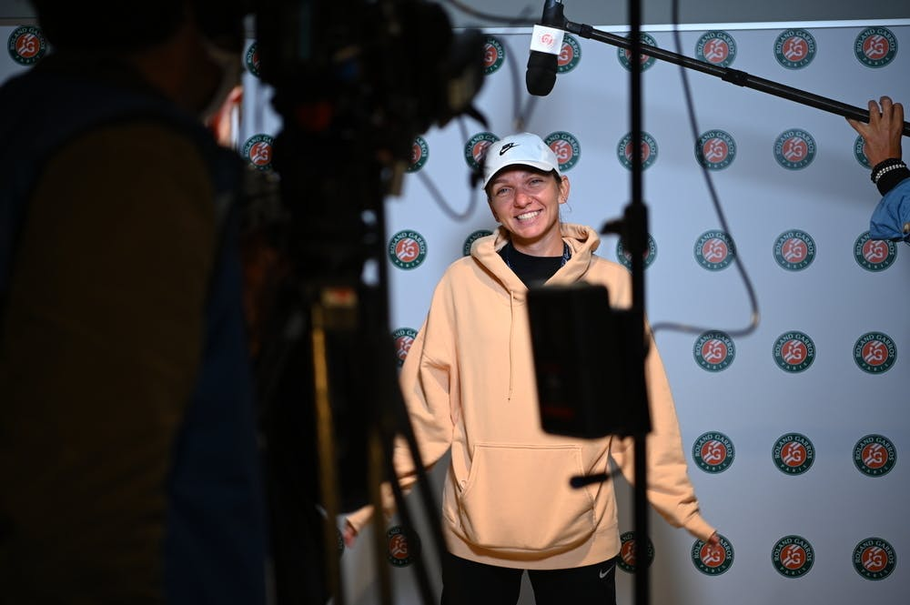 Simona Halep, Roland-Garros 2020, Media Day, vendredi 25 septembre