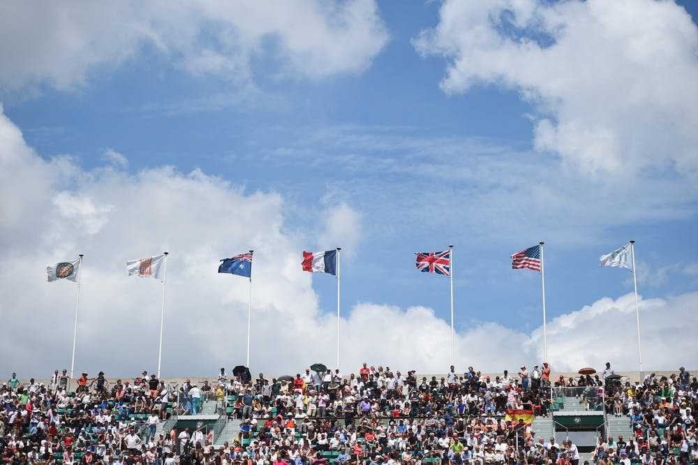 Flags over Roland-Garros