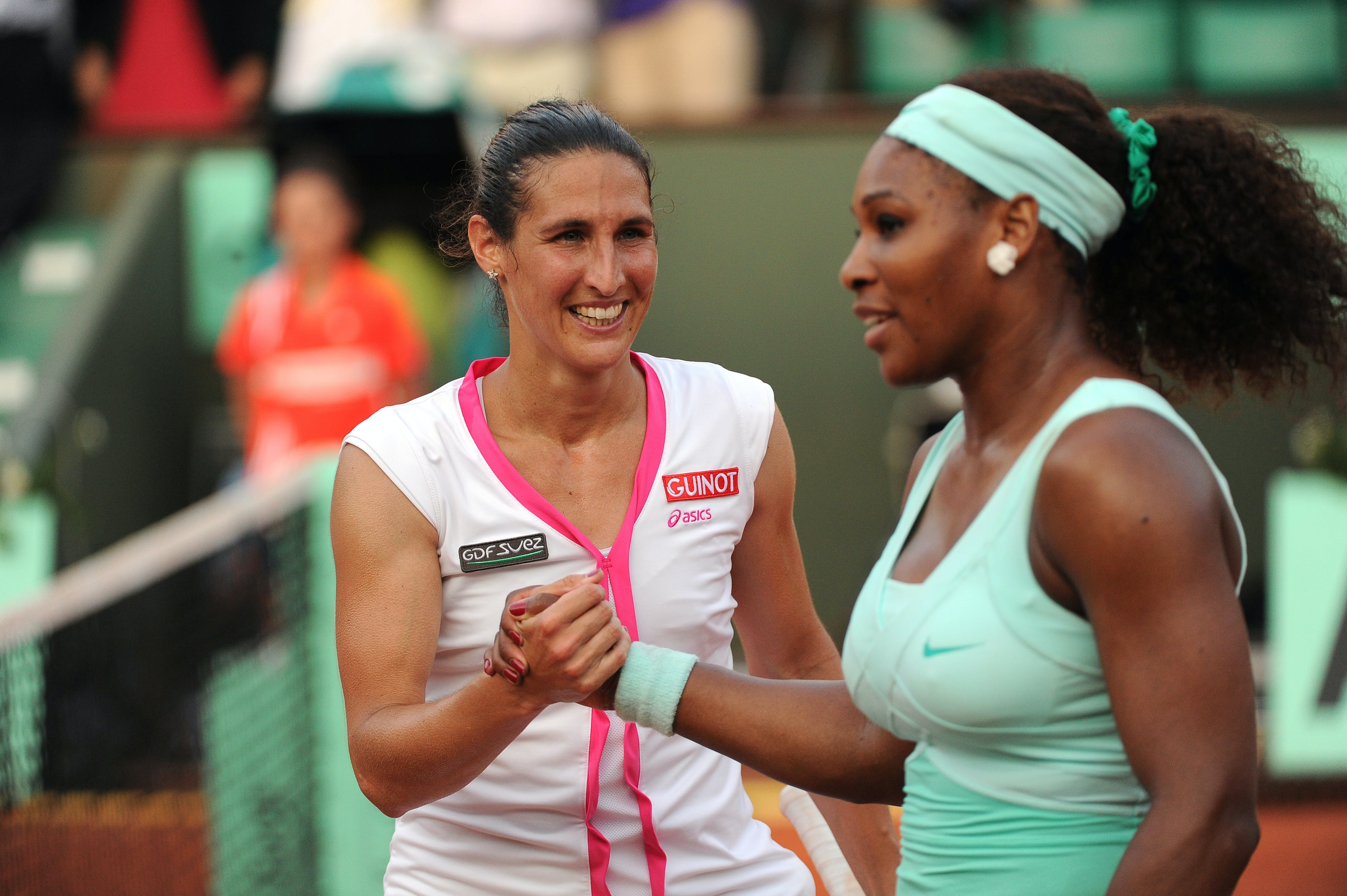 Virginie Razzano & Serena Williams at Roland-Garros 2012