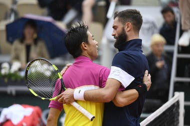 Nishikori & Paire after the fourth round at Roland-Garros 2019