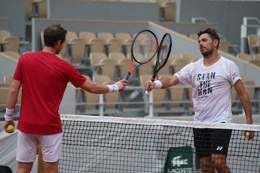 Andy Murray, Stan Wawrinka, Roland-Garros 2020