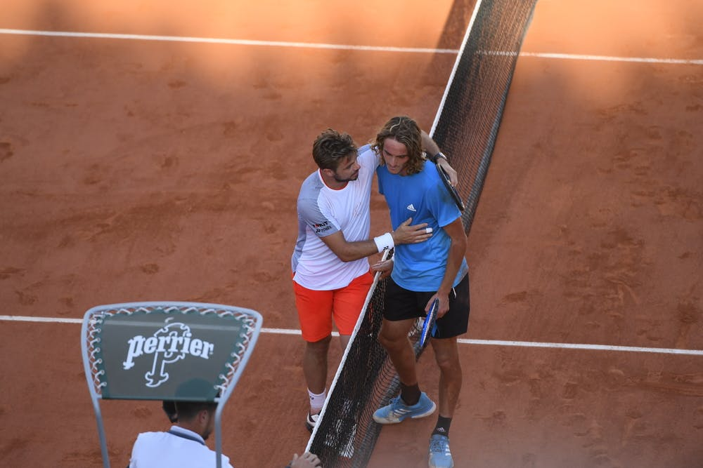 Wawrinka Tsitsipas fourth round Roland Garros 2019