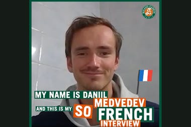Daniil Medvedev So French ITW