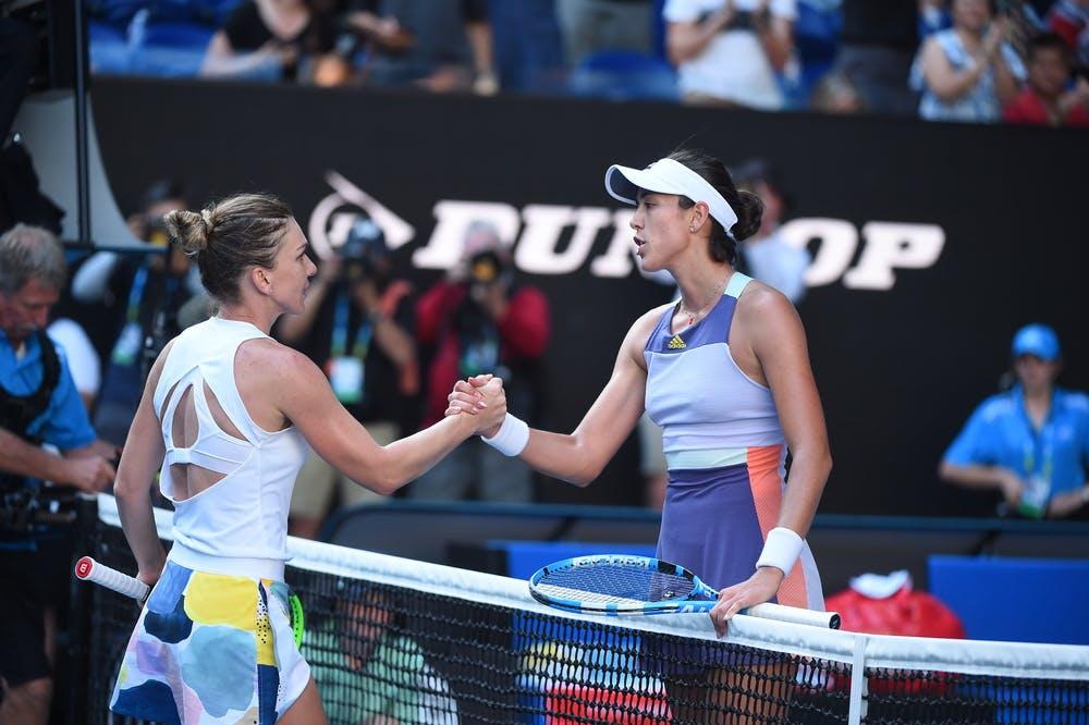 Garbiñe Muguruza et Simona Halep demi-finale Open d'Australie 2020