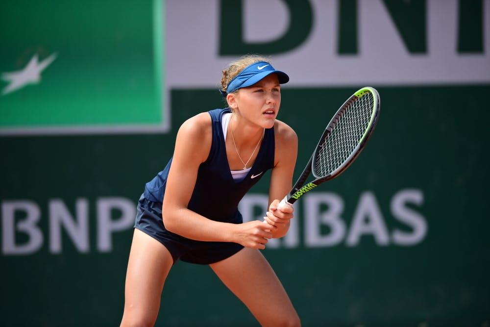 Erika Andreeva, Roland-Garros 2021, girls singles first round
