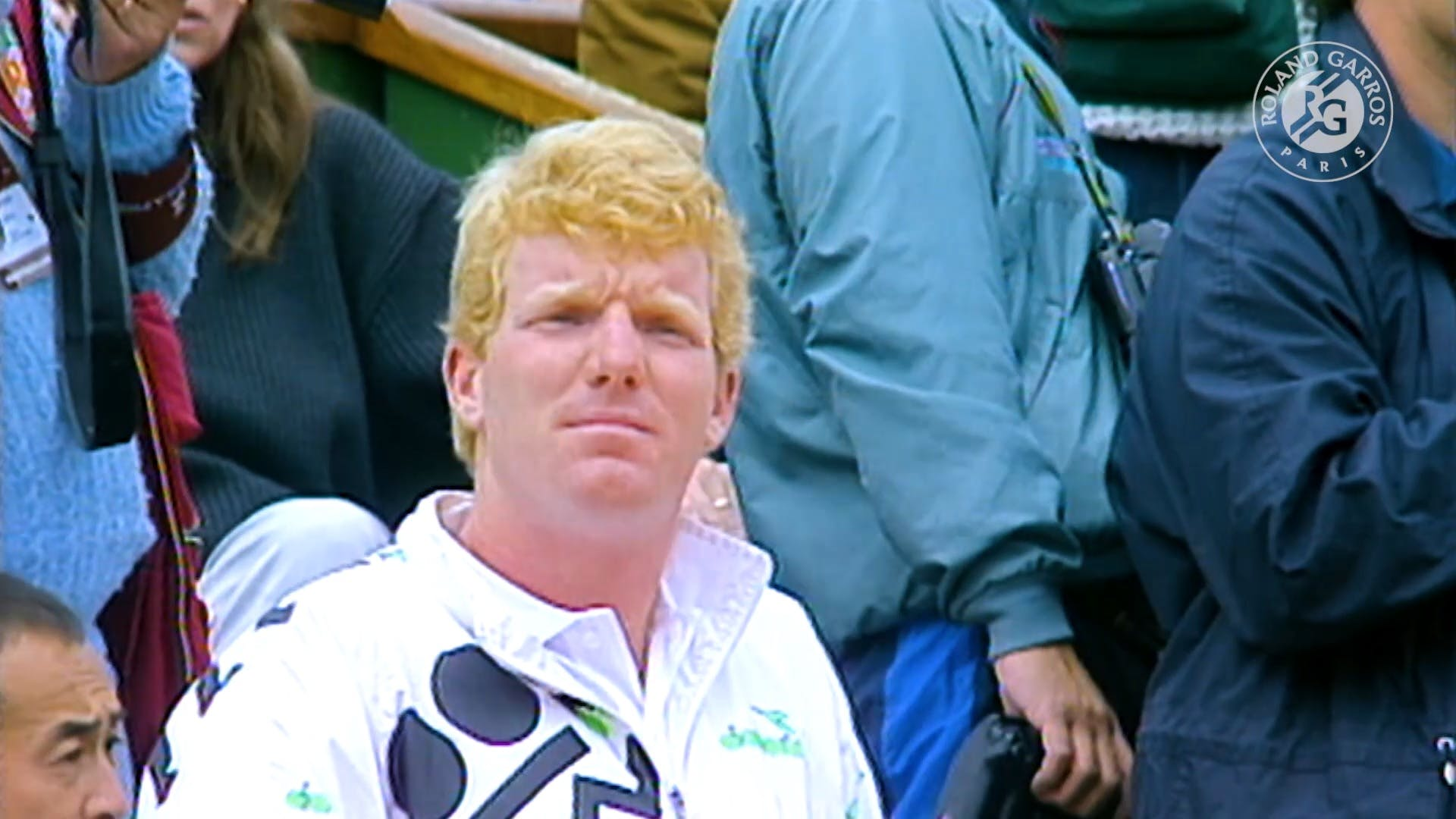 Jim Courier during the final at Roland-Garros 1991