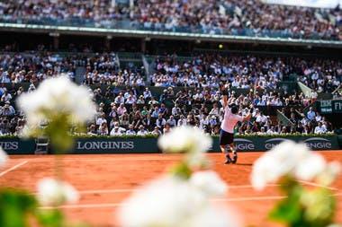 Ambiance Roland-Garros court Philippe-Chatrier