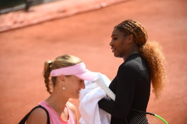 Serena Williams - Kristina Mladenovic - Roland-Garros 2019 - entraînement