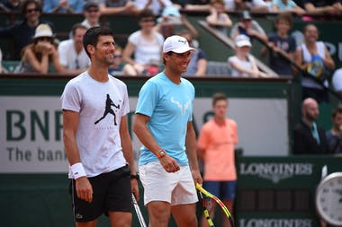 Rafael Nadal, Novak Djokovic, kids' day Roland Garros 2018