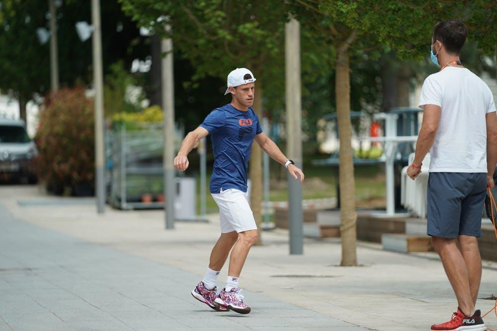 Diego Schwartzman, Roland Garros 2021, practice
