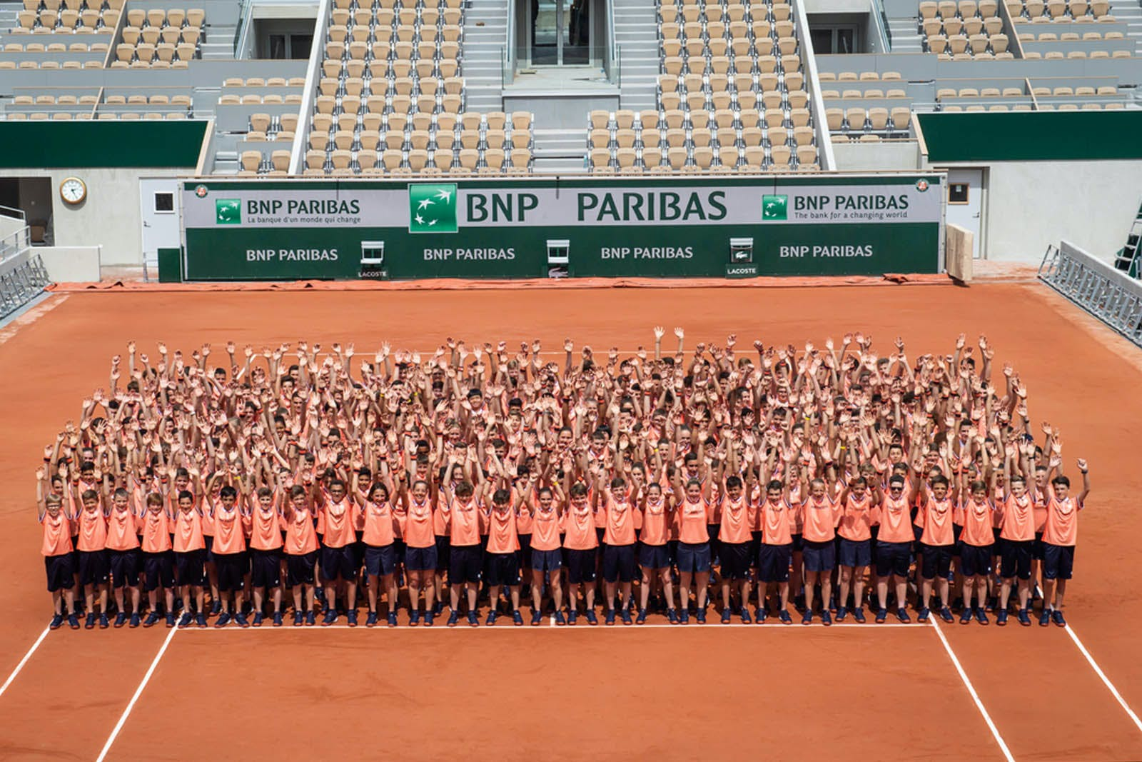 Roland-Garros 2019 - Ramasseurs de balles - Photo de groupe