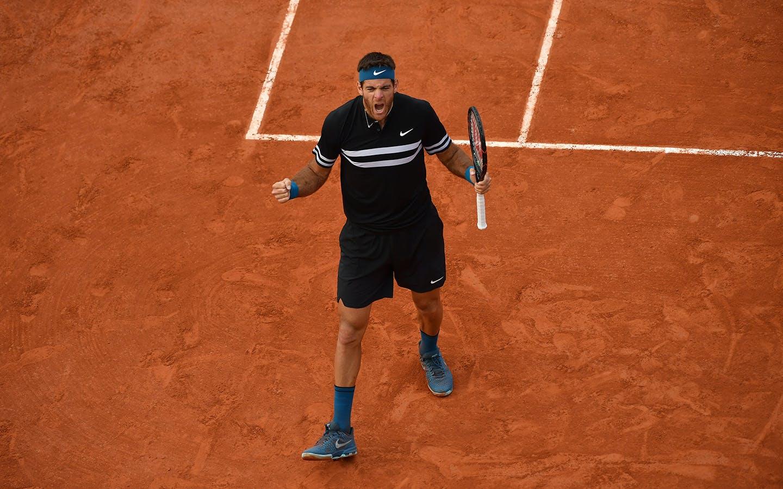 Del Potro, Roland-Garros, 8è de finale