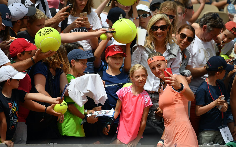 Kristina Mladenovic enfants de Roland-Garros ERG 2018