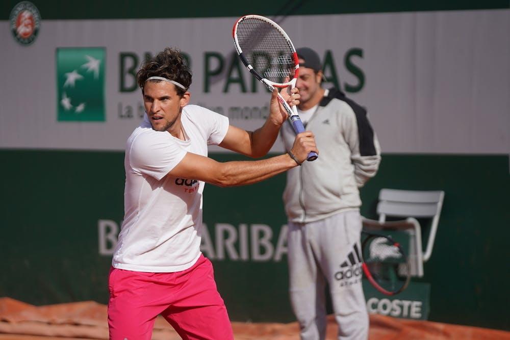 Dominic Thiem, Roland Garros 2020, practice