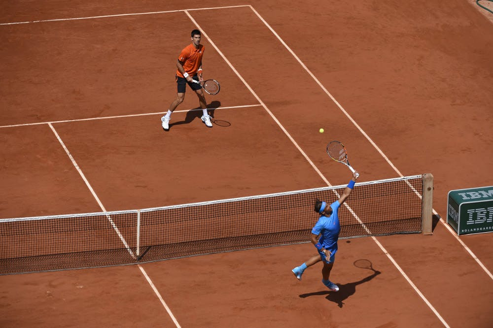 Novak Djokovic Rafael Nadal Roland-Garros 2015 French Open.