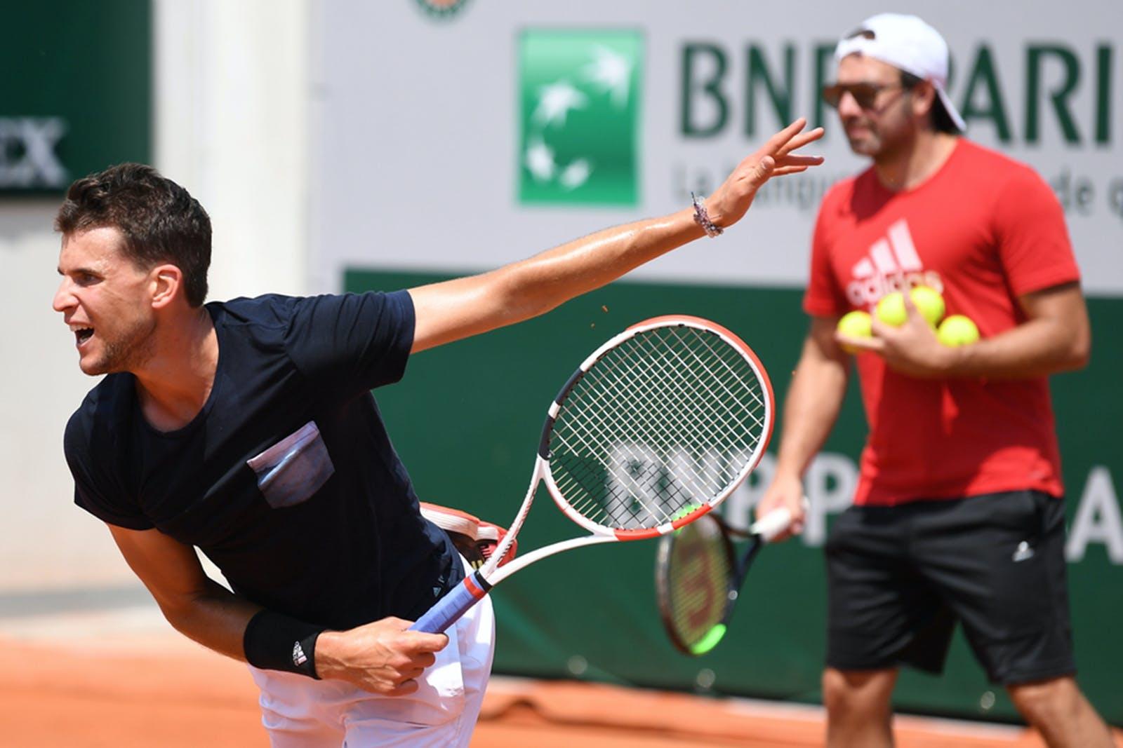 Dominic Thiem - Roland-Garros 2019 entraînement