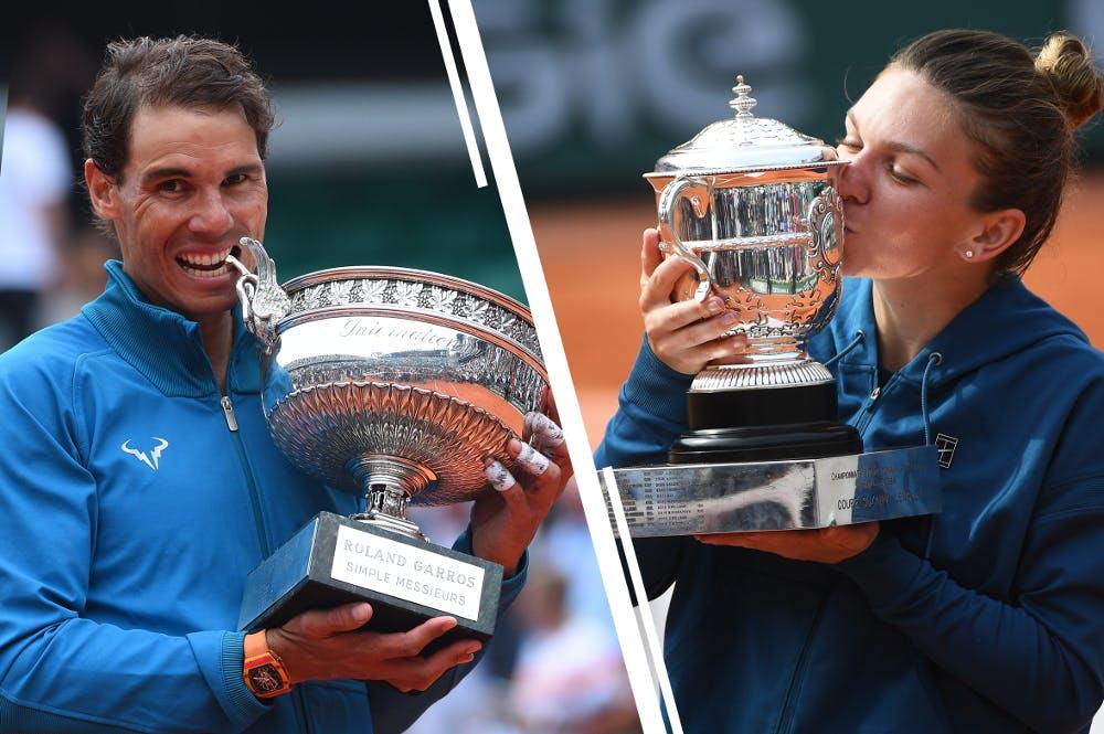 Rafael Nadal Simona Halep Roland-Garros champions 2018