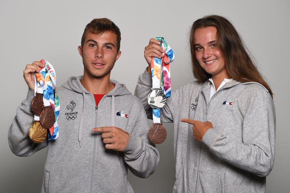 Hugo Gaston et Clara Burel, des Jeux Olympiques de la jeunesse au troisième tour de Roland-Garros