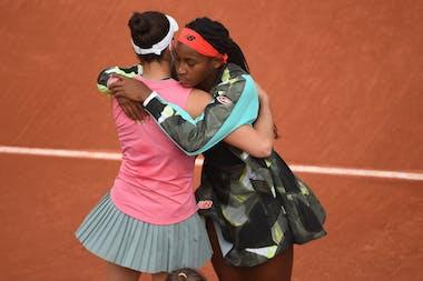 Jennifer Brady et Coco Gauff, Roland-Garros 2021, 3rd round
