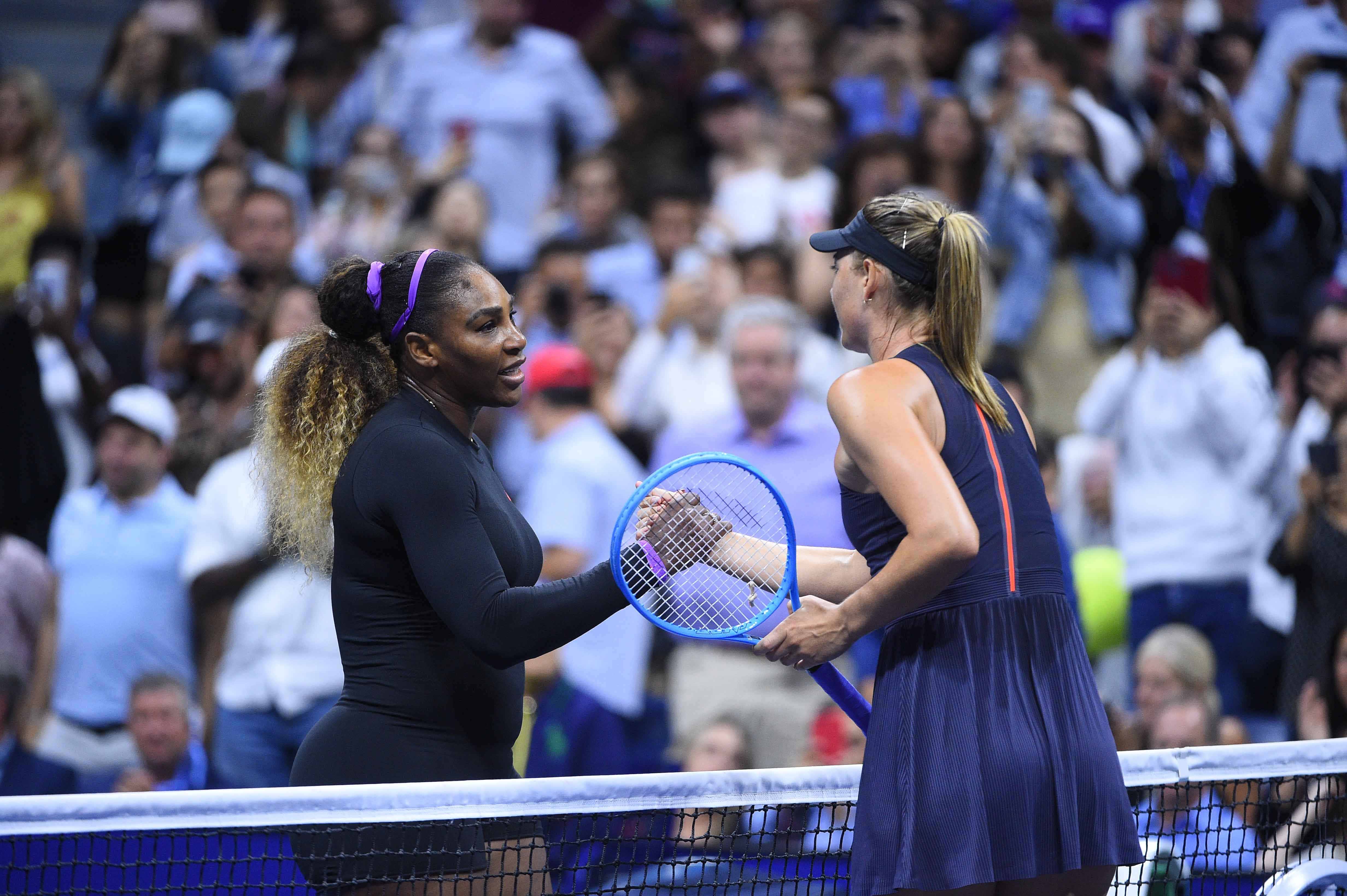 Serena Williams and Maria Sharapova at the US Open 2019