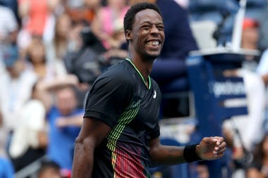 Gaël Monfils smiling at the 2021 US Open