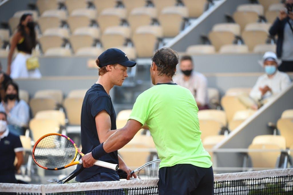 Rafael Nadal, Jannik Sinner, Roland Garros 2021, fourth round