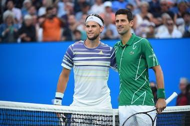Thiem & Djokovic before the Australian Open 2020 final