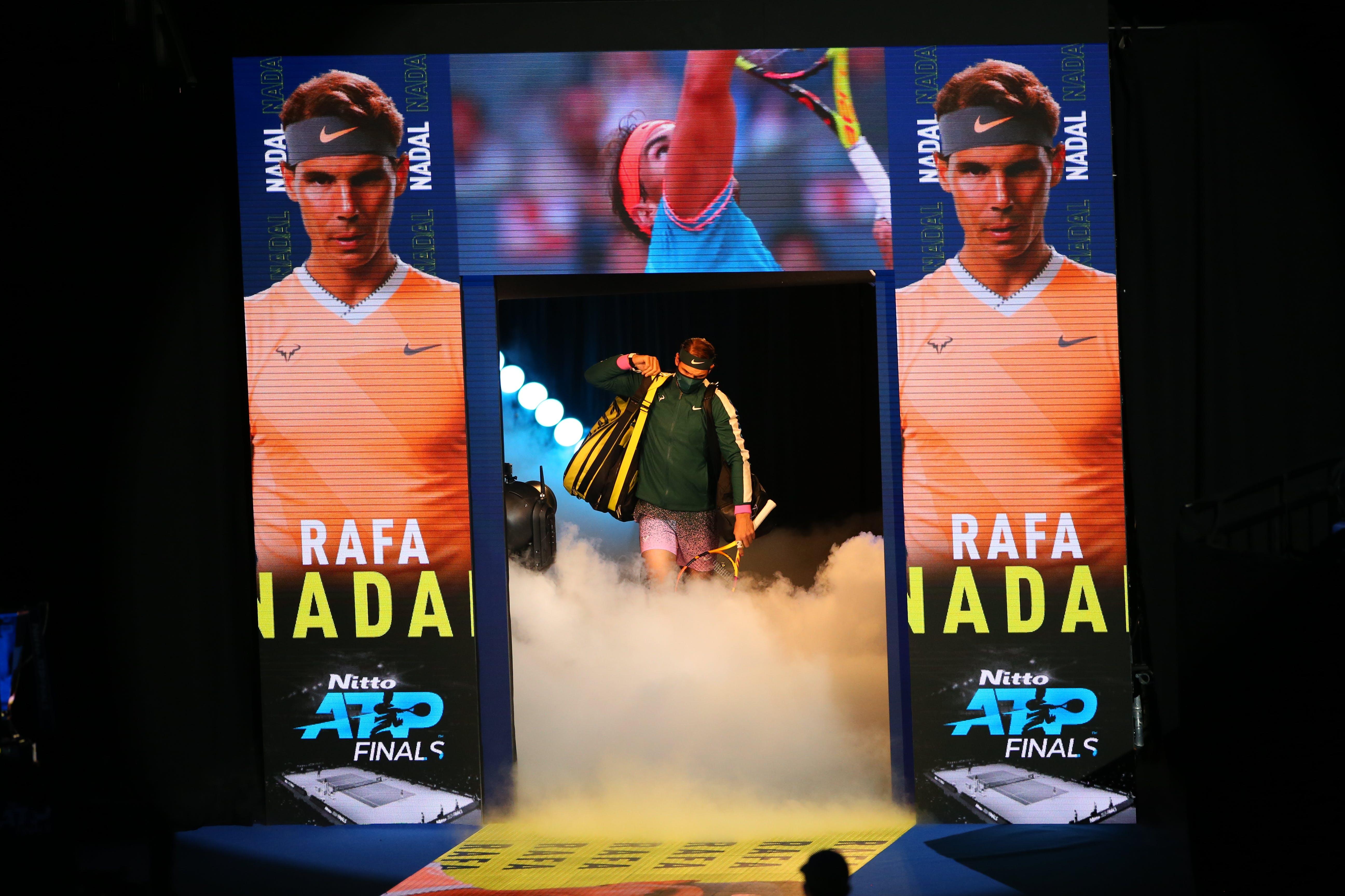 Rafael Nadal and himself at the ATP Finals 2020