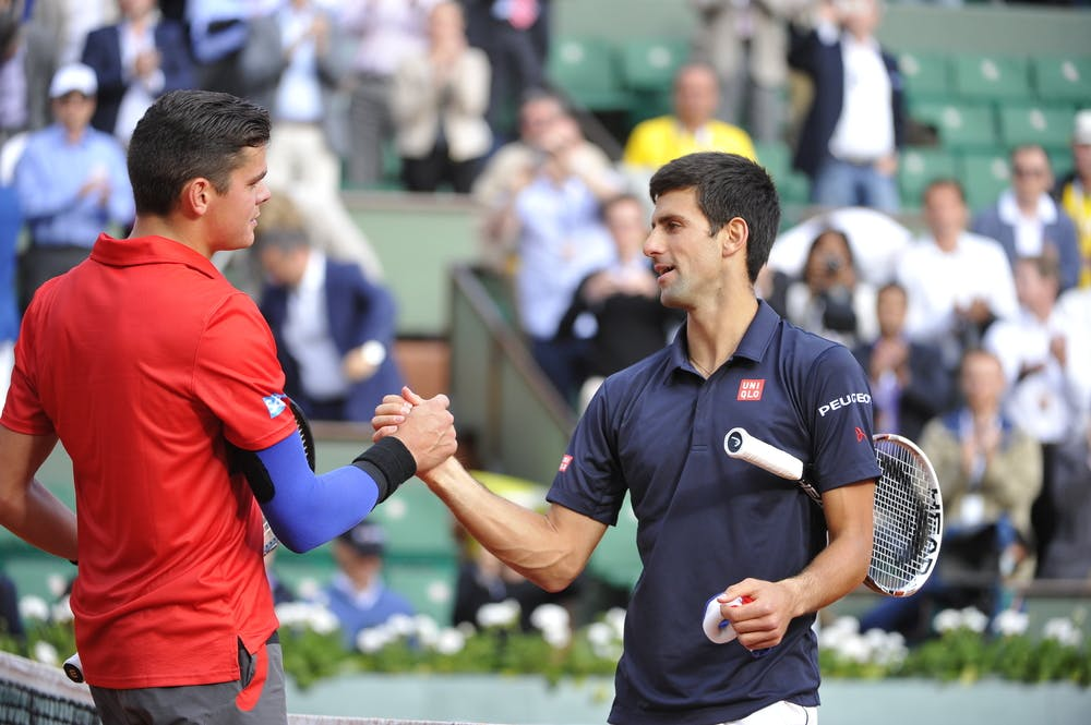 Raonic Djokovic Roland-Garros 2014