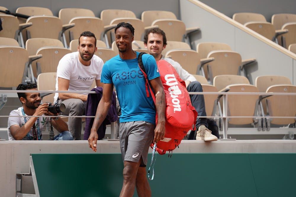 Gael Monfils practice Roland-Garros 2019