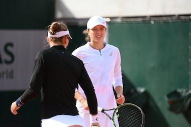 Iga Swiatek, Nicole Melichar, Roland Garros 2020, doubles first round