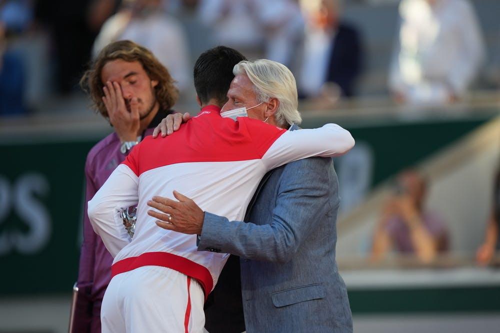 Novak Djokovic, Bjorn Borg, Stefanos Tsitsipas, Roland Garros final