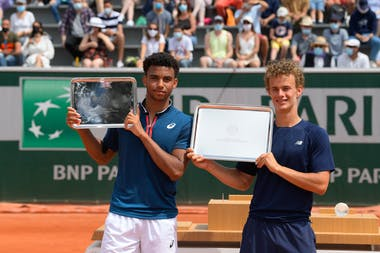 Arthur Fils Luca Van Assche Roland-Garros 2021