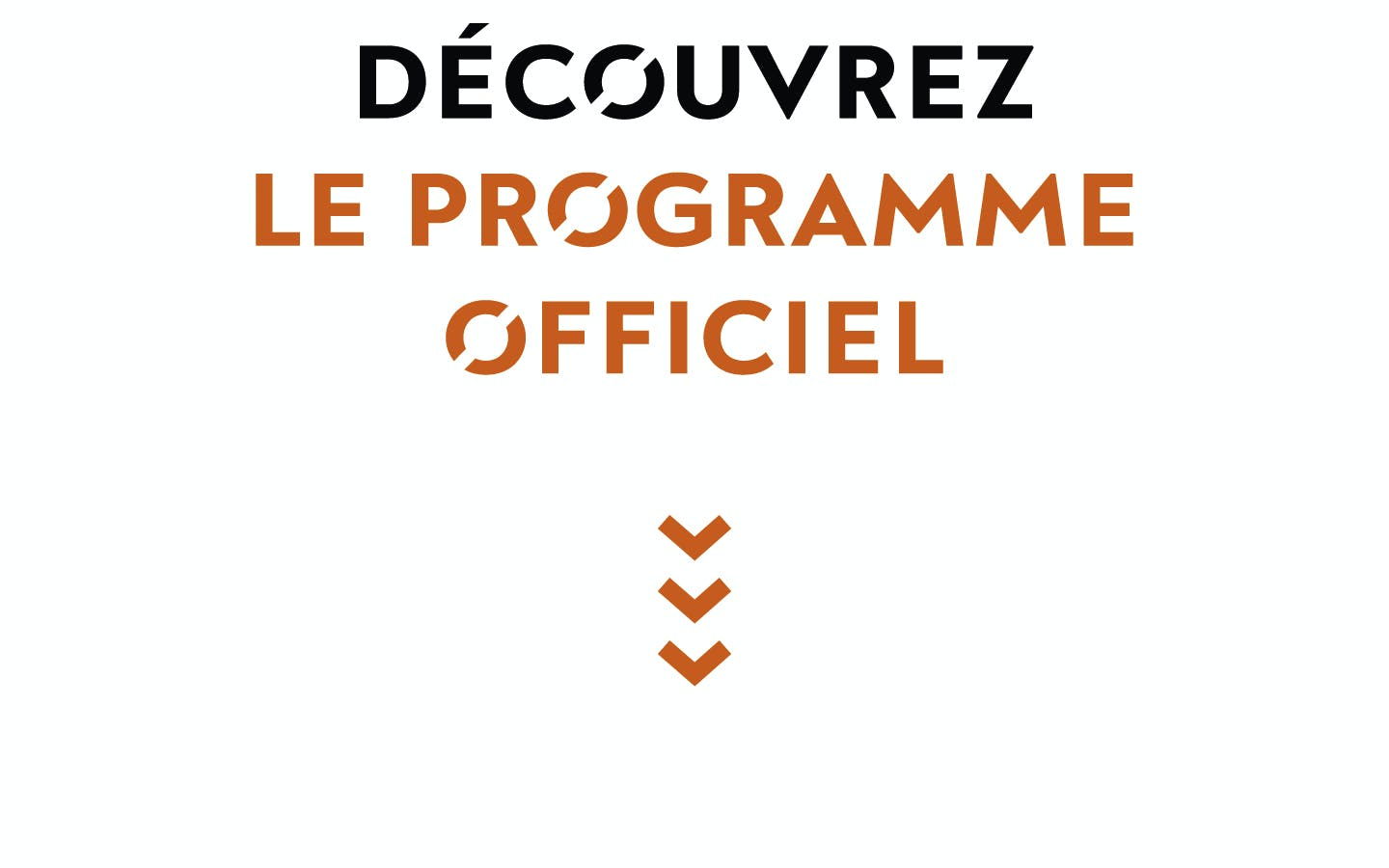 Logo, programme officiel